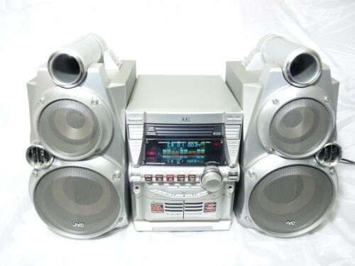 JVC 500 Watt MX-GB6 Mini System Stereo 3-disc carousel changer (Rare ) LOUD