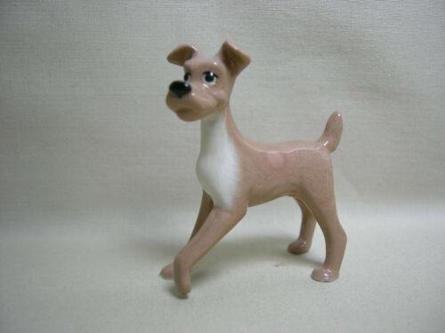 Vtg Miniature Hagen Renaker Ceramic Light Color Terrier Tramp Style Dog Figurine