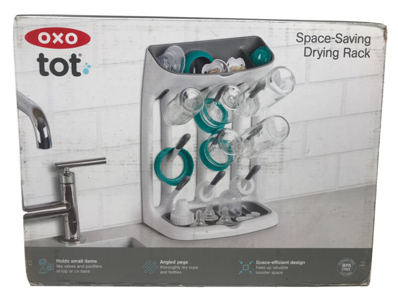 OXO Tot Space Saving Drying Rack Bottles Pacifiers and Bottles