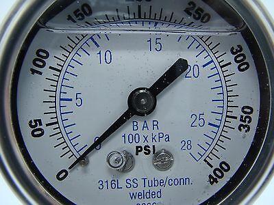 301lfw-254i 2.5 Glycerin Filled Ss 316 Internals Gauge 14 Npt Lm 0400 Psi