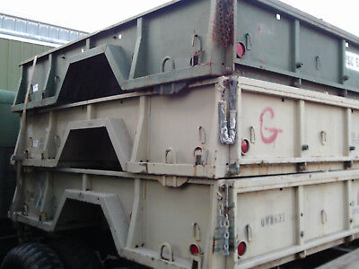 military trailer bed M 105 Shorty bobbed box project dump 6x6 all steel 5 ton