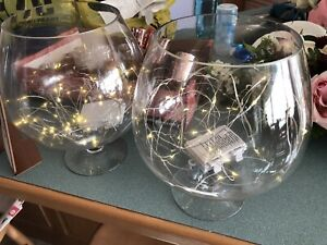 Glass snifter glasses-$15