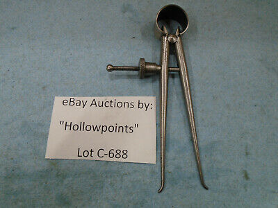 C688 Lufkin 142 Toolmakers 3 Inside Caliper Round Leg Solid Nut For Machinist