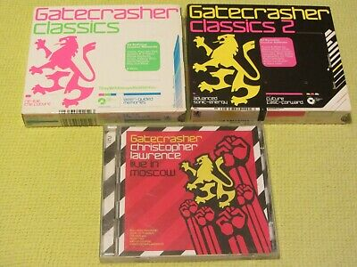 Gatecrasher Classics 1 2 & Christopher Lawrence Live in Moscow 3 CD Albums Dance