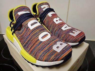 Adidas Pharrell Williams Human Race HU NMD Trail Multi Ink Yellow UK 7 7.5 US