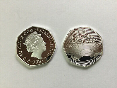 2019 Stephen Hawking 50p Copy BU 50p