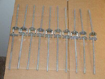 Peg Board Hooks Lot Of 20 14 Inch Heavy Duty Steel By 6 Inches