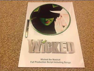 Wicked the Musical Production Script inc songs. Double Sided.SPECIAL OFFER