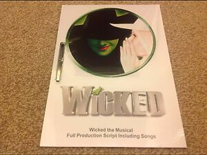 Wicked the Musical Full Production Script by Post