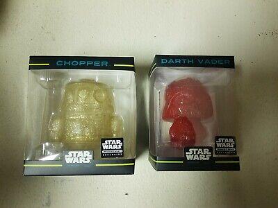 Lot Funko Hikari Mini: Star Wars Chopper Gold /Darth Vader Red Smuggler's Bounty