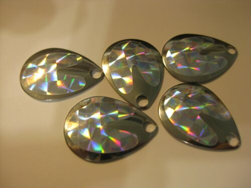 #3 Colorado Spinner Blades Holographic $1.69 For 5 Of Same Color (Silver)