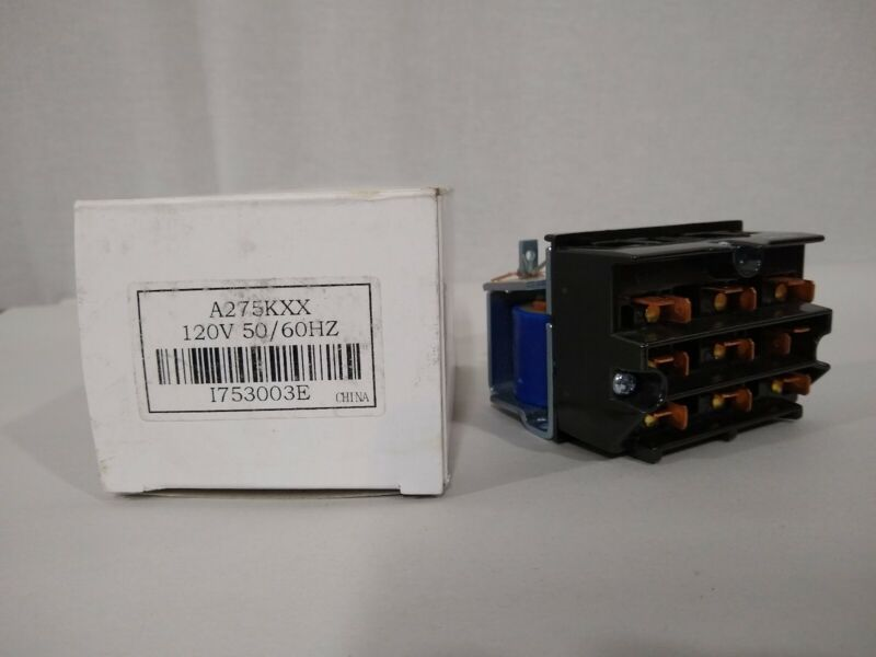 New Struthers-dunn A275KXX 120V Reversing Contactor 9 Pole