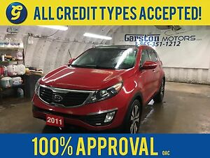 2011 Kia Sportage EX W/LUXURY*AWD*LEATHER*POWER SUNROOF*HEATED/C