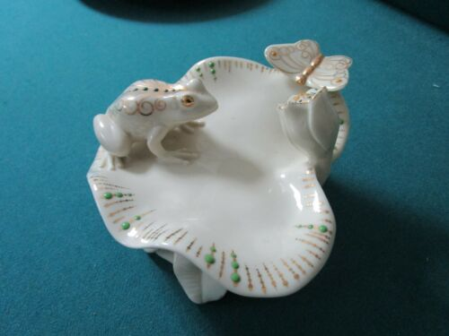 LENOX JEWEL COLLECTIN FROG ON LILY PAD DISH