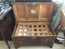 Antique Oriental Timber Chest Tweed Heads 2485 Tweed Heads Area Preview