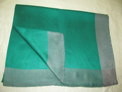 ALITALIA AIRLINE by FRETTE luxury cabin blanket travel couch throw green linen