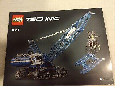 Lego Technic 42042 Crawler Crane Instruction Manual No Bricks