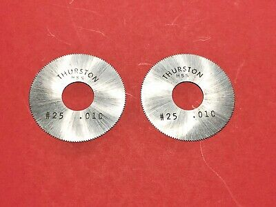 .010 Thurston Slitting Saws 1-12 X 12 Lot Of 2