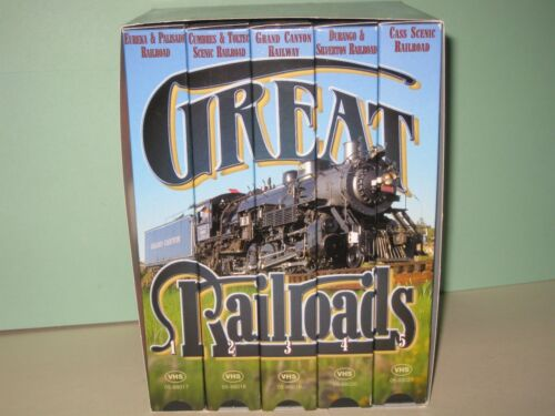 Goodtimes - Great Railroads of the US, Box set of 5 tapes - VHS