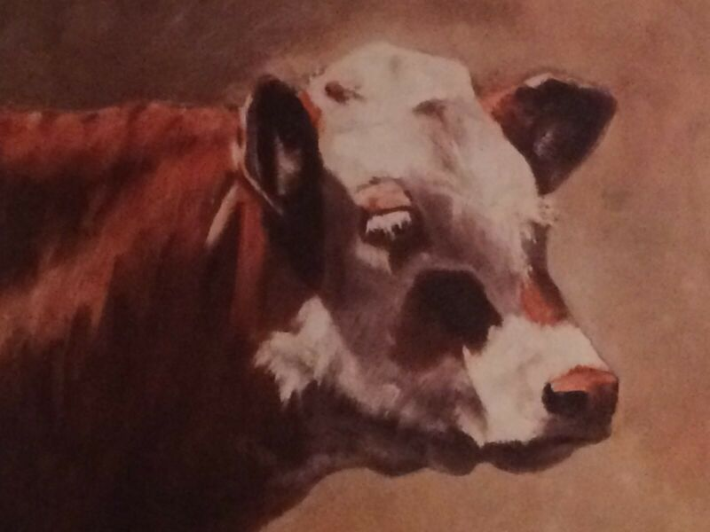 """Western Art / Cowboys - Cattle """"Crossbreed"""" color print by artist Larry Bees"""