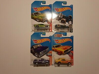 Hot Wheels Dodge Ford Chevy  Die-cast 1:64 Scale Mixed Lot of 4 NIP