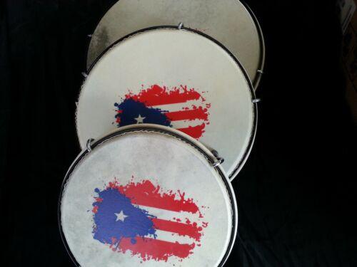 Set de Panderos - Pleneras de PVC con Bandera de Puerto Rico