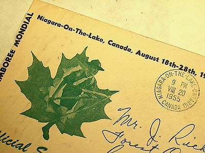CANADA-1955 OFFICIAL SOUVENIR COVER- BOY SCOUTS 8TH WORLD JAMBOREE