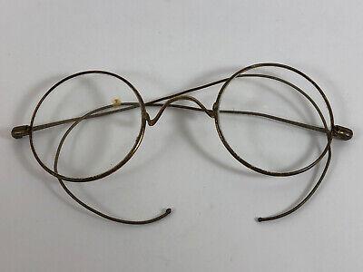 Vintage Round Eyeglasses Frames Ghandi Glasses Gold Tone S.P.A. John Lennon (Prescription John Lennon Glasses)