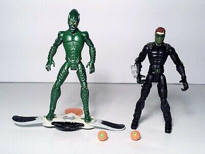"""Marvel 5"""" Spider-Man 3 Movie Lot of 2 Green Goblin Action Figure Hasbro 2006"""