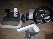 Genuine Microsoft Xbox 360 wireless force feedback steering wheel Croydon Park Port Adelaide Area Preview