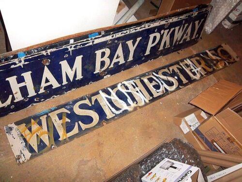 Nyc Subway Sign Grafitti Porcelain Westchester Square Irt Bronx Ny Historical