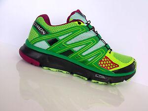 SALOMON XR MISSION W Damen Laufschuhe Jogging Fitness grün/neon-gelb Gr.39 1/3