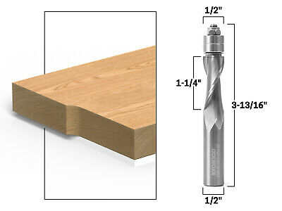 12 Upcut Flush Trim Solid Carbide Spiral Router Bit 12 Shank Yonico 31200-sc