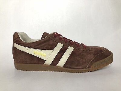 Gola Mens Classic Shoes (Gola Classics Harrier Premium Suede Burgundy/White Mens Trainers Size 9 US NWOB )