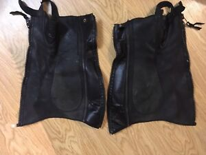 1/2 chaps leather