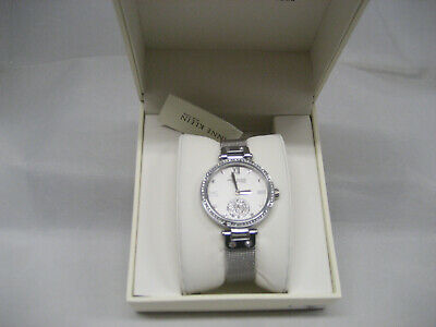 Anne Klein NY 12/2309SVSV Women's 35mm Silver-Tone Crystal Accent Watch NWT (8)