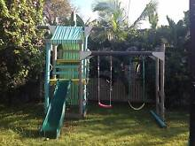 Wooden fort, Cubby house, swing,  slide set Bardon, Brisbane Bardon Brisbane North West Preview