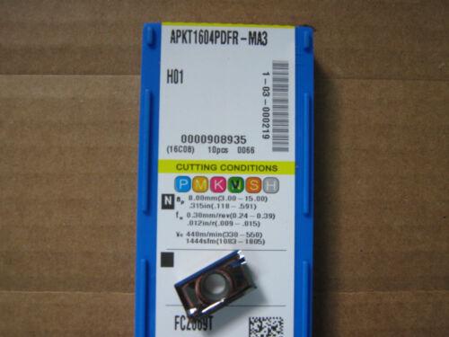 "Korloy APKT1604PDFR-MA3 H01 Aluminum / Cast Iron Cutting Inserts .031""rad  NEW!!"