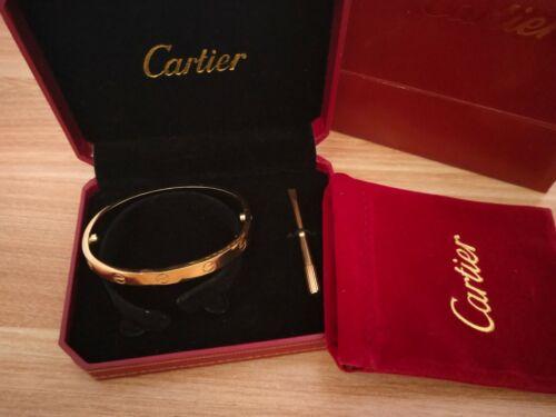 Sales promotion!!!!!Love Bracelet Gold Size 17 with Screwdriver