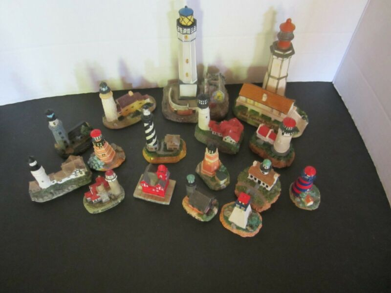 Lot Of 16  Mini  Lighthouses  Decorative Collectable Nice Assortment