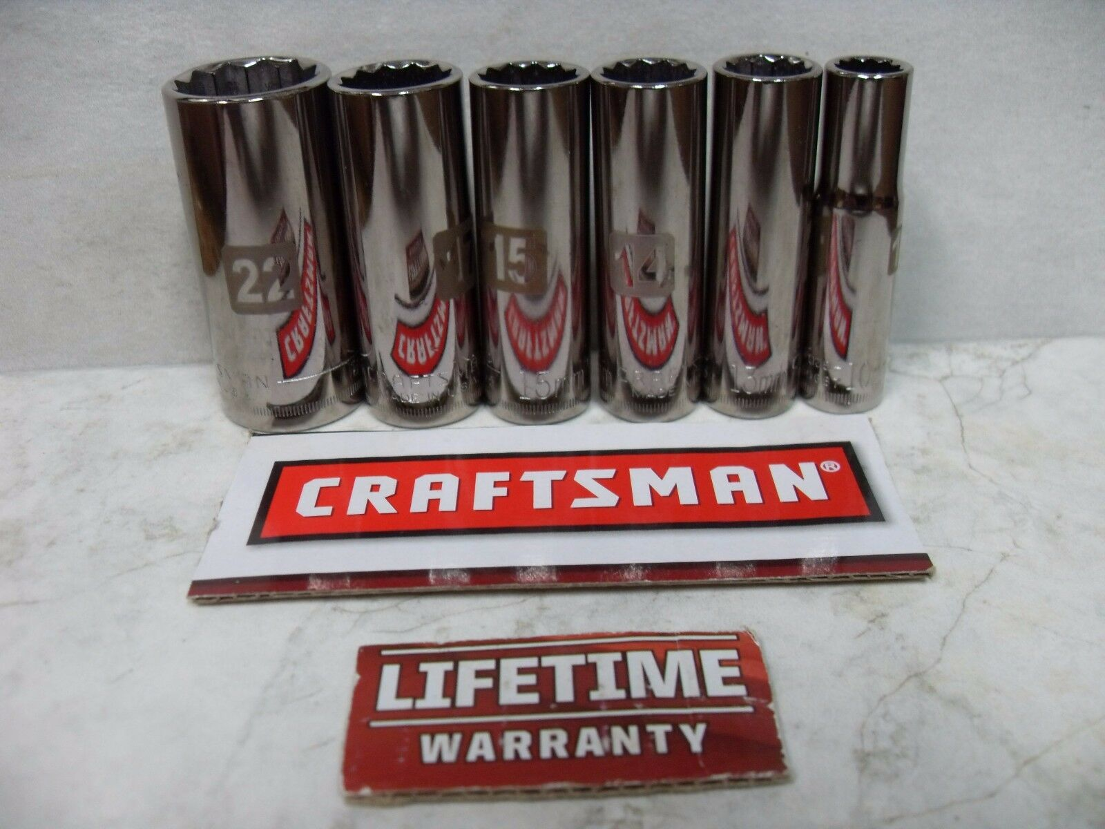 "NEW CRAFTSMAN 3/8"" 12 PT POINT METRIC DEEP SOCKET TOOLS USA"