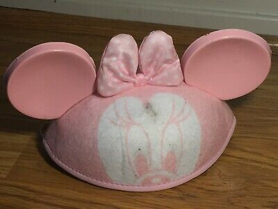 💚 DISNEY PARKS MICKEY MINNIE MOUSE EARS INFANT BABY HAT EMBROIDERED