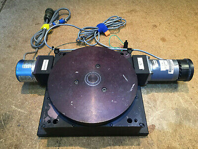 8 Rotary Stage Table - Parker Compumotor Bayside W Stepper Motor And Encoder
