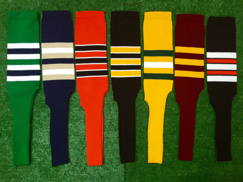 Baseball Softball Stirrups Socks with Stripes Various Colors