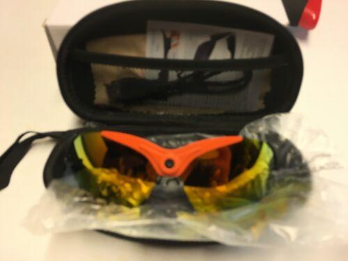 SmartCam Camera Bluetooth Sunglasses, Black Frame/Orange Lens