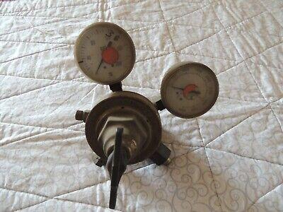Vintage Brass Victor Oxygen Gauge Steam Punk