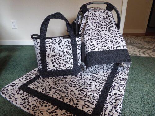 **NIGHTMARE BEFORE CHRISTMAS**Diaper Bag/tote Car Seat Canopy & blanket Handmade