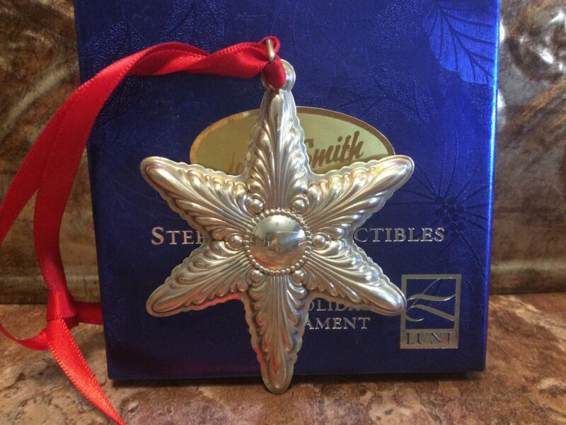RARE LUNT 2000 ANNUAL STAR Sterling Silver Christmas Ornament / Pendant