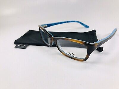 ⭐️ New Oakley OX1088-0153 Tortoise Plaid SHORT CUT Eyeglasses 53mm w/Oakley Bag