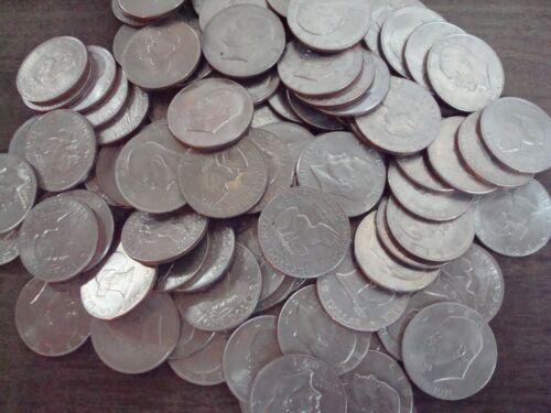 NICE LOT 100 COINS EISENHOWER IKE CLAD DOLLARS XF-UNC 1971-1978 HAS BICENTENNIAL